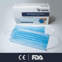 VIP MEDPRO 3-Ply Disposable Face Mask, CE & FDA CERTIFIED (5 Boxes)